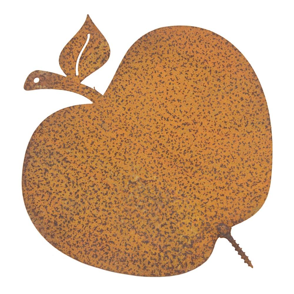 Gartendeko Apfel mit Dorn Schraube Baumdeko Metall Rost Deko