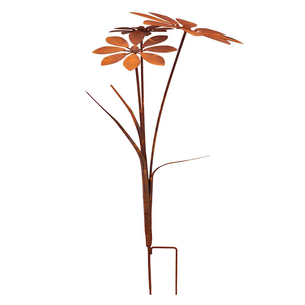 Blumenstecker Blumen Rost Deko Stecker Gartendeko Stab Edelrost Beetstecker