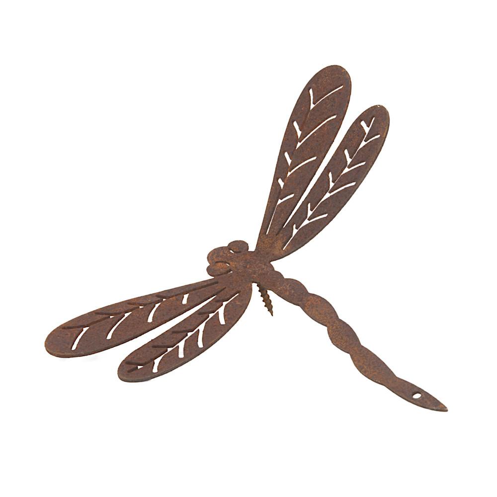 Gartendeko Libelle mit Dorn Schraube Insekt Baumtier Metall Rost Deko