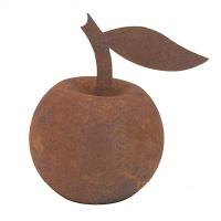 Gartendeko Apfel rund zum Hinstellen Baumdeko Metall Rost Deko