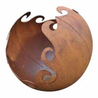 Gartendeko Kugel zum Bepflanzen Metall Rost Deko Gartenkugel Schale 30cm