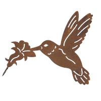 Gartendeko Kolibri mit Dorn Schraube Vogel Baumtier Metall Rost Deko