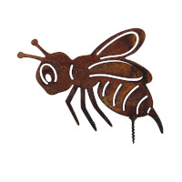 Gartendeko Biene mit Dorn Schraube Insekt Baumtier Metall Rost Deko