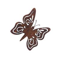 Gartendeko Schmetterling mit Dorn Schraube Insekt Baumtier Metall Rost Deko