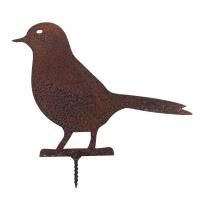 Gartendeko Taube mit Dorn Schraube Vogel Baumtier Metall Rost Deko
