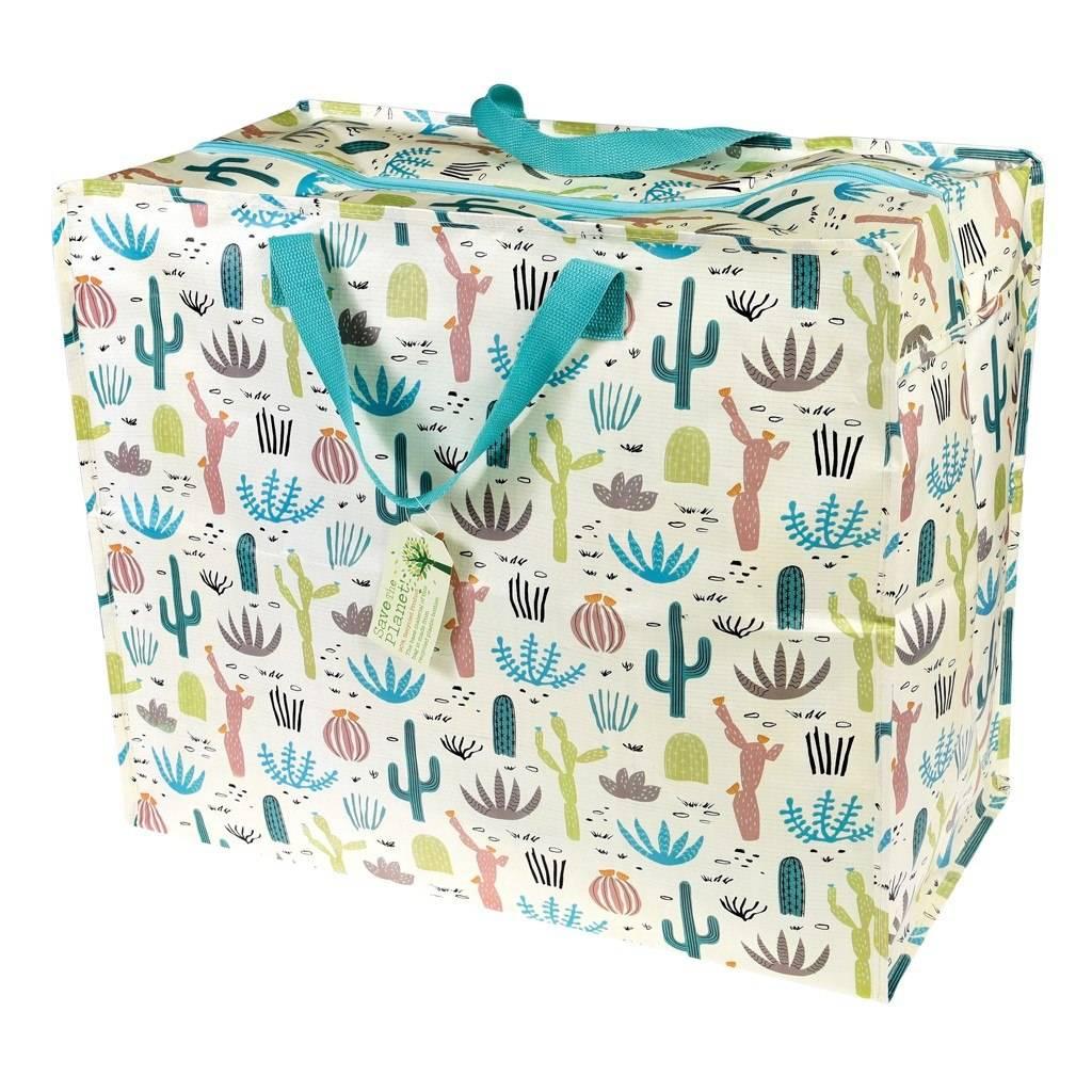 """Große Aufbewahrungstasche aus recycelten Plastikflaschen """"Kaktus"""""""